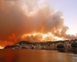 Φωτιά στην Εύβοια – Κόλαση στις Ροβιές, στην παραλία σπεύδει ο κόσμος για να σωθεί