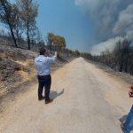 Ο Δήμαρχος Αχαρνών ζητά ενίσχυση δυνάμεων στην αναζωπύρωση της Βαρυμπόμπης