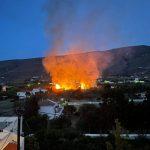 Πυρκαγιά στο Κόρθι, στην Άνδρο