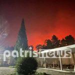 Αρχαία Ολυμπία: Οι φλόγες κοντά στον αρχαιολογικό χώρο