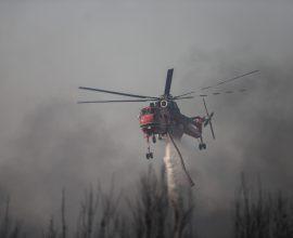 Συναγερμός στην Πυροσβεστική – Μεγάλη αναζωπύρωση στη Βαρυμπόμπη