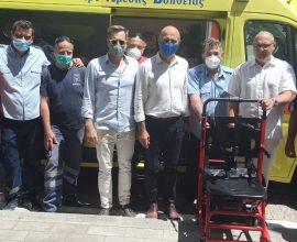 Δωρεά δυο ειδικών ηλεκτροκίνητων καρεκλών του Δήμου Λέρου στο ΕΚΑΒ