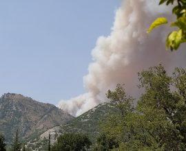 Σε κατάσταση συναγερμού η Λακωνία – Φουντώνει το μέτωπο της πυρκαγιάς στη Μάνη