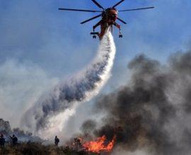 Μαίνεται η πυρκαγιά στο Βασιλίτσι Μεσσηνίας – Επιχειρούν ισχυρές εναέριες δυνάμεις
