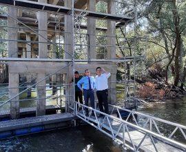 Π.Ε. Σερρών: Ξεκίνησαν οι εργασίες αποκατάστασης των βλαβών της γέφυρας του ποταμού Αγγίτη
