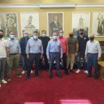 Παραδόθηκαν σακίδια με εξοπλισμό Πολιτικής Προστασίας στους αντίστοιχους Αντιδημάρχους της Π.Ε. Σερρών