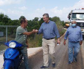 Δήμος Αρταίων: Συνεχίζονται τα έργα ασφαλτόστρωσης 1.900μ.σε Ράχη και Πολύδροσο