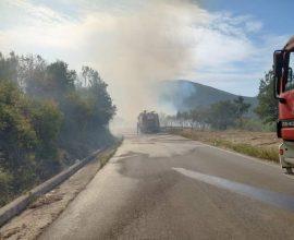 Πυρκαγιά στη Μεγαλόπολη, εκκένωση οικισμού
