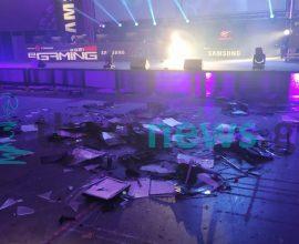 Επίδειξη κοινωνικής ανευθυνότητας – Οι Gamers έσπασαν υπολογιστές επί σκηνής, στη ΔΕΘ (βίντεο)