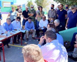 """Έκτακτη σύσκεψη στο Αρκαλοχώρι – Αρναουτάκης: """"Προέχει η ανθρώπινη ζωή – Θα στηρίξουμε τους πληγέντες"""""""