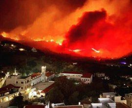 Πυρκαγιά σε δύο μέτωπα στην Κάρπαθο
