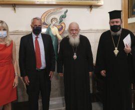 Σύμφωνο συνεργασίας Ε.Κ.Δ.Δ.Α. και Ι.Π.Ε. υπέγραψαν Αρχιεπίσκοπος και Υπουργός Εσωτερικών