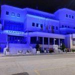 Φωταγώγηση Δημαρχείου Κιλκίς την Ημέρα Μνήμης του Μακεδονικού Αγώνα
