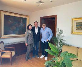 Συνάντηση του Δημάρχου Ζωγράφου με την Άννα και τον Γρηγόρη Μπιθικώτση