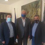 Συνάντηση του Δημάρχου Πύργου με τον Γεν. Γραμματέα ΥΠ.ΕΣ. Μιχ. Σταυριανουδάκη
