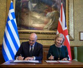 Δένδιας από Λονδίνο: «Ελλάδα και Ηνωμένο Βασίλειο ανοίγουν νέο κεφάλαιο στις σχέσεις τους»