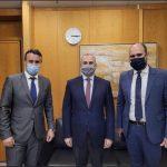 Συνάντηση Δημάρχου Σαλαμίνας με τον Υφυπουργό Υποδομών
