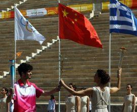 Η Ολυμπιακή Φλόγα παραδόθηκε στο Πεκίνο για τους Χειμερινούς Ολυμπιακούς Αγώνες