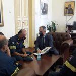 Επίσκεψη του  Αρχηγού του Πυροσβεστικού Σώματος στον Αντιπεριφερειάρχη Σερρών